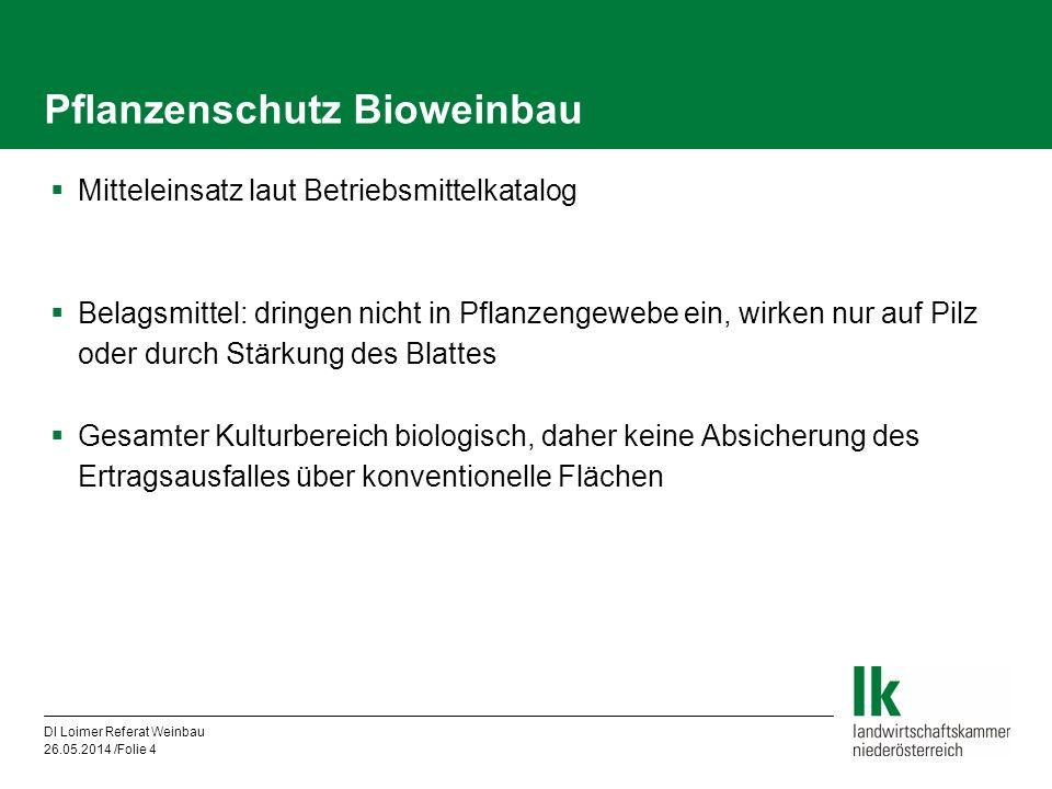 Pflanzenschutz Bioweinbau