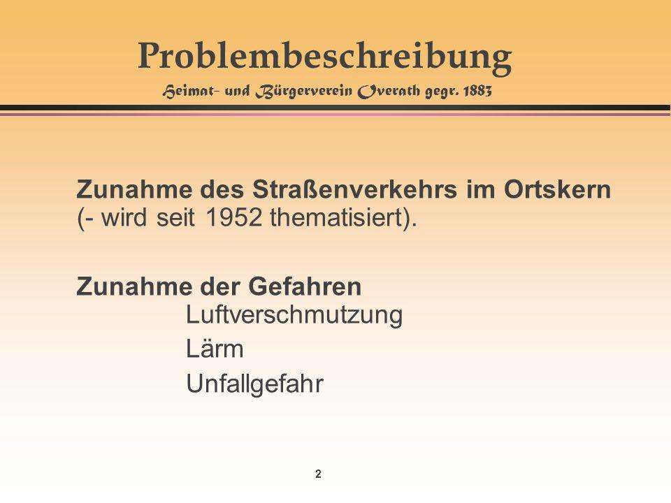 Problembeschreibung Heimat- und Bürgerverein Overath gegr. 1883