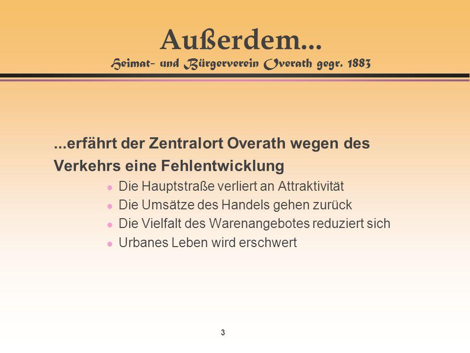 Außerdem... Heimat- und Bürgerverein Overath gegr. 1883