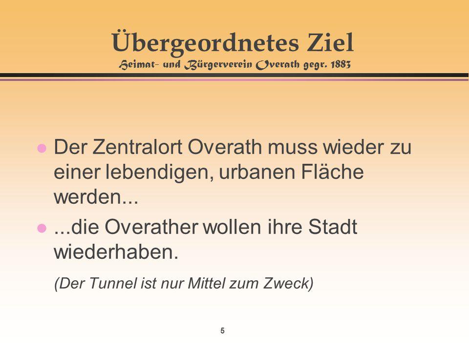 Übergeordnetes Ziel Heimat- und Bürgerverein Overath gegr. 1883