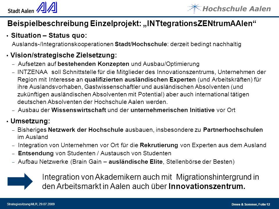 """Beispielbeschreibung Einzelprojekt: """"INTtegrationsZENtrumAAlen"""