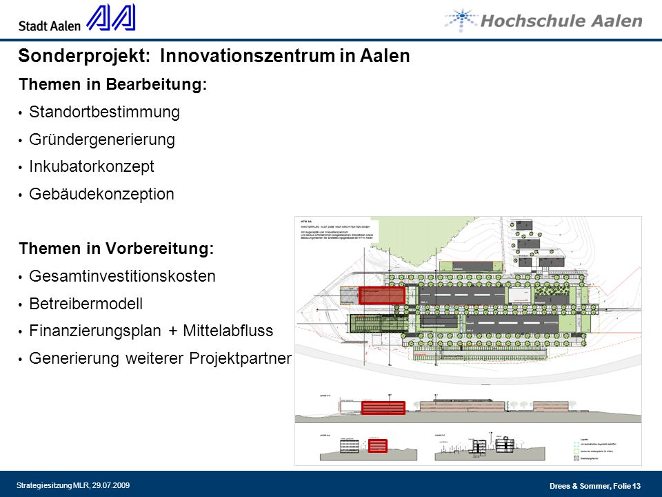 Sonderprojekt: Innovationszentrum in Aalen