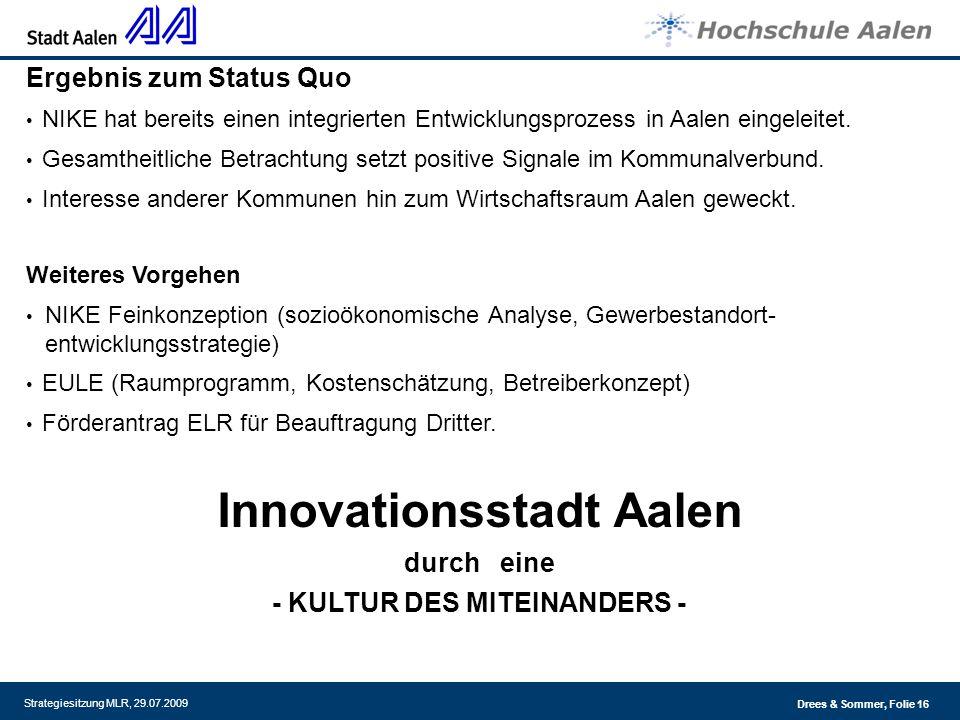 Innovationsstadt Aalen - KULTUR DES MITEINANDERS -