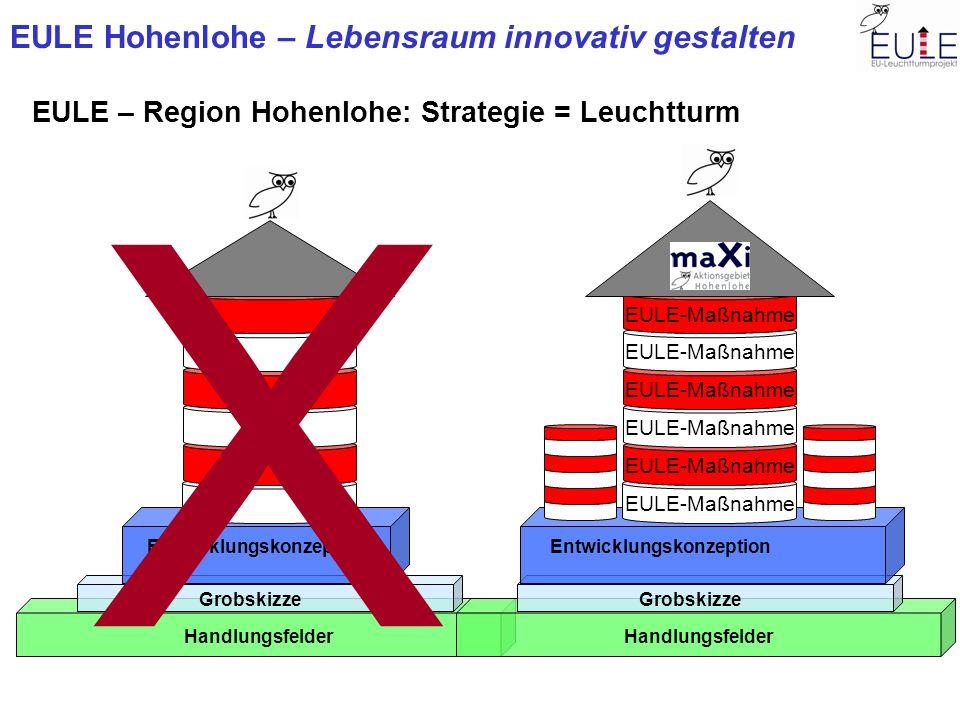 X EULE – Region Hohenlohe: Strategie = Leuchtturm EULE-Maßnahme