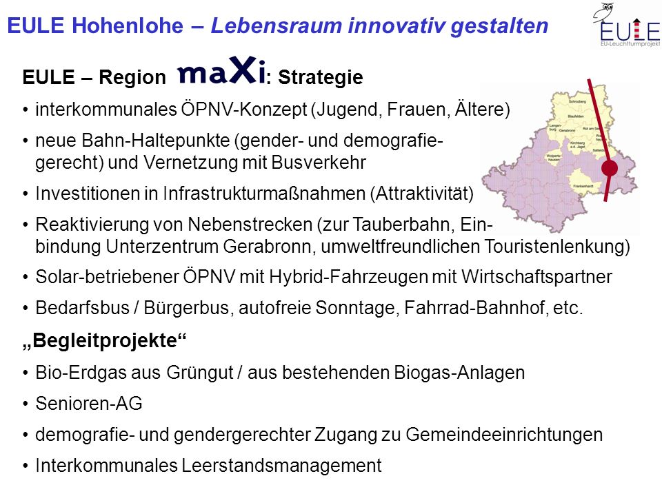 EULE – Region : Strategie