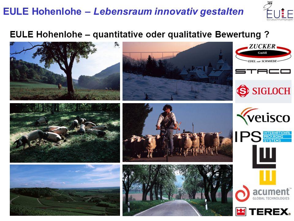 EULE Hohenlohe – quantitative oder qualitative Bewertung