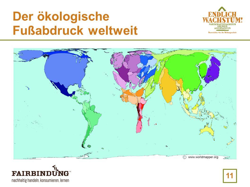 Der ökologische Fußabdruck weltweit