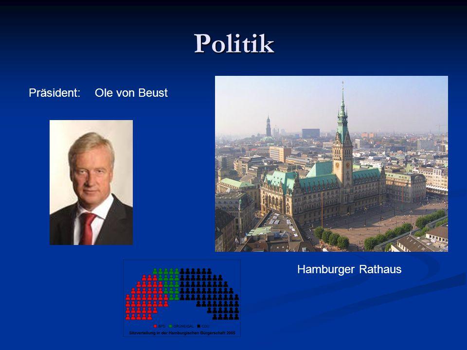 Politik Präsident: Ole von Beust Hamburger Rathaus