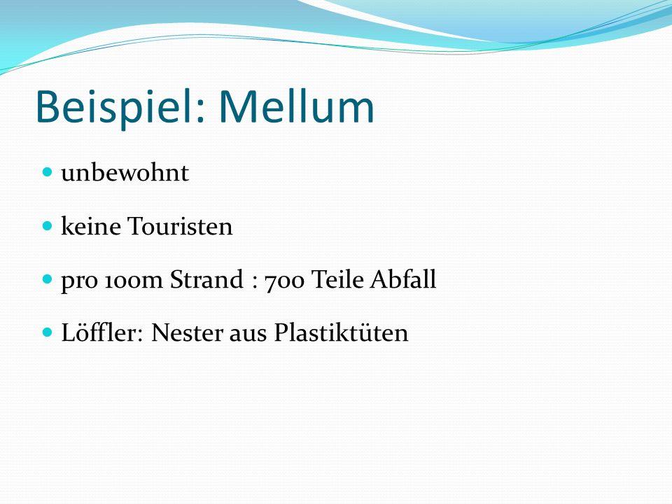 Beispiel: Mellum unbewohnt keine Touristen