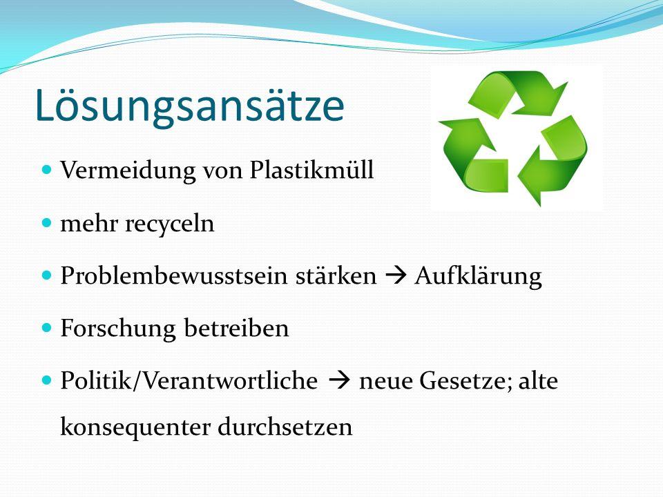 Lösungsansätze Vermeidung von Plastikmüll mehr recyceln