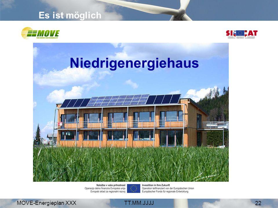Es ist möglich Niedrigenergiehaus MOVE-Energieplan XXX TT.MM.JJJJ