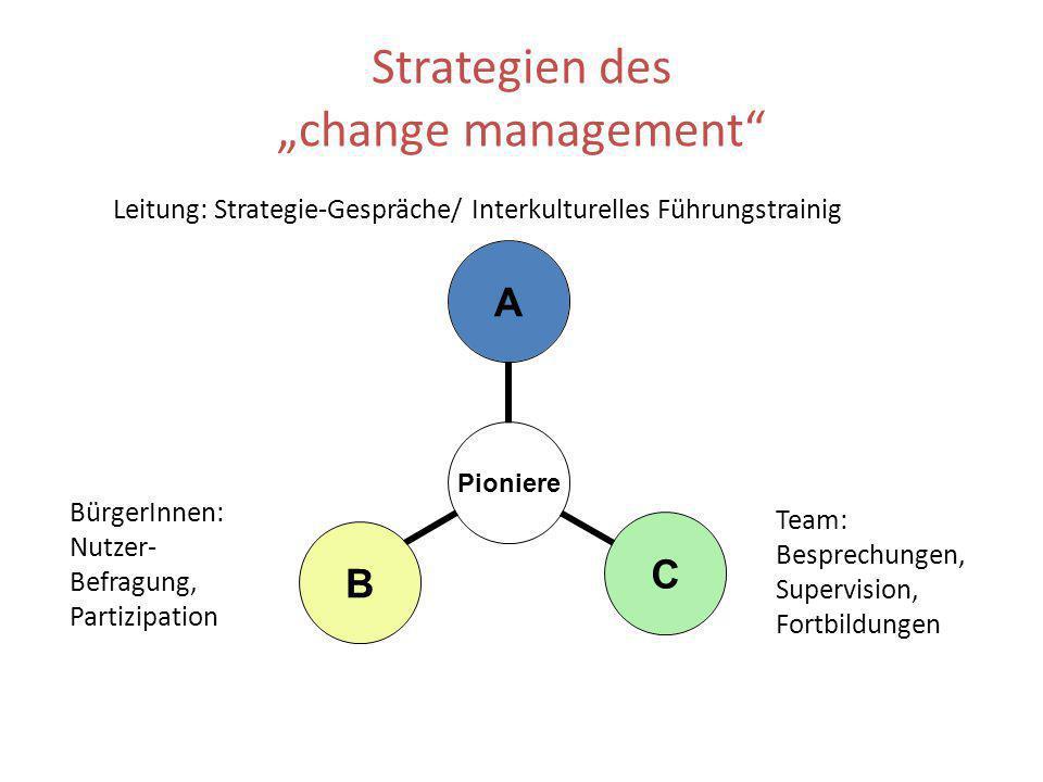 """Strategien des """"change management"""