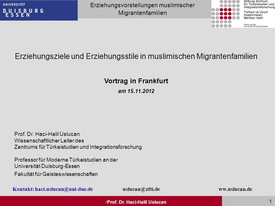 Erziehungsziele und Erziehungsstile in muslimischen Migrantenfamilien
