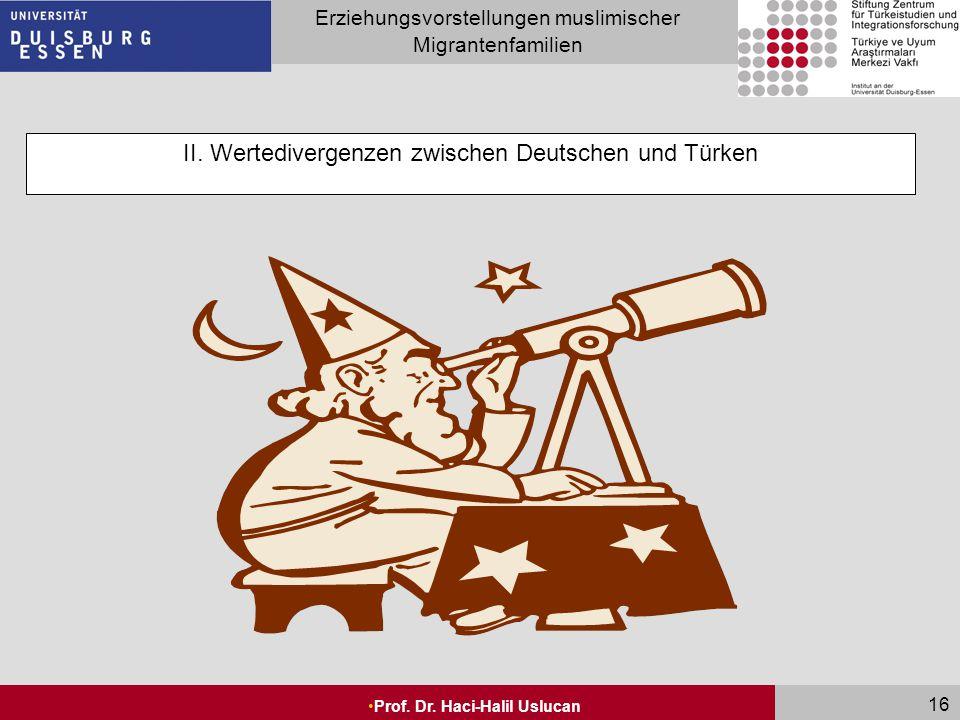 II. Wertedivergenzen zwischen Deutschen und Türken