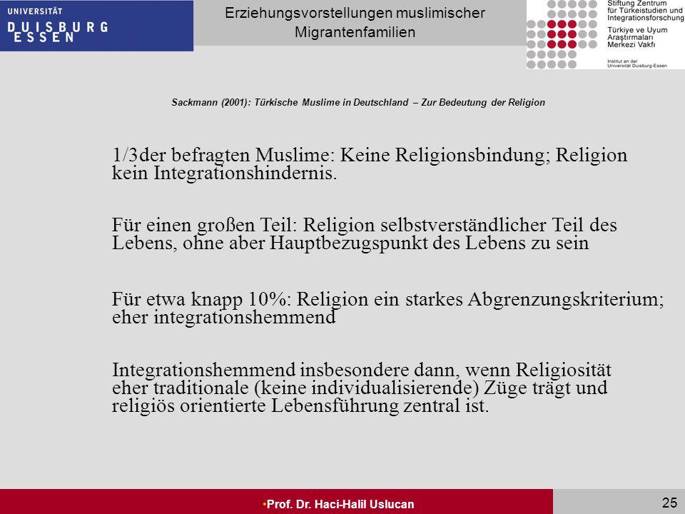Sackmann (2001): Türkische Muslime in Deutschland – Zur Bedeutung der Religion