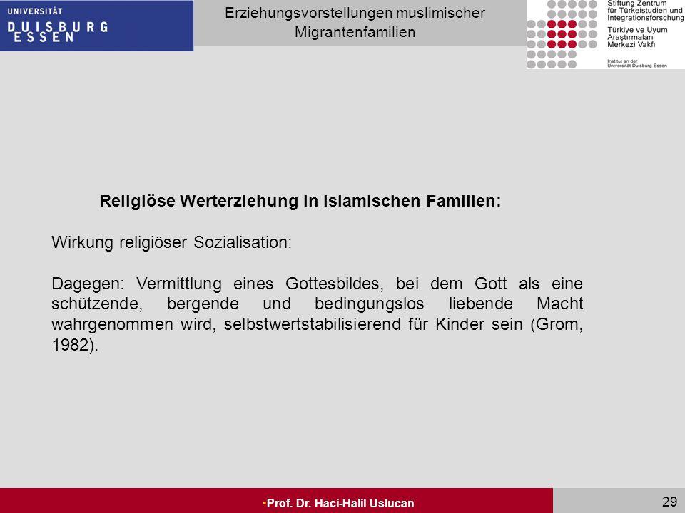 Religiöse Werterziehung in islamischen Familien: