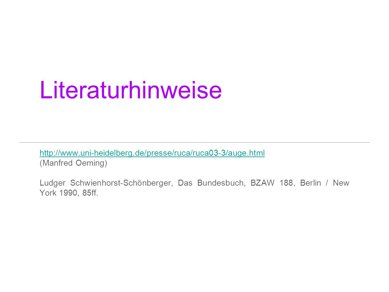Literaturhinweise http://www.uni-heidelberg.de/presse/ruca/ruca03-3/auge.html. (Manfred Oeming)