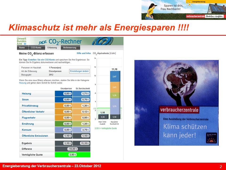 Klimaschutz ist mehr als Energiesparen !!!!