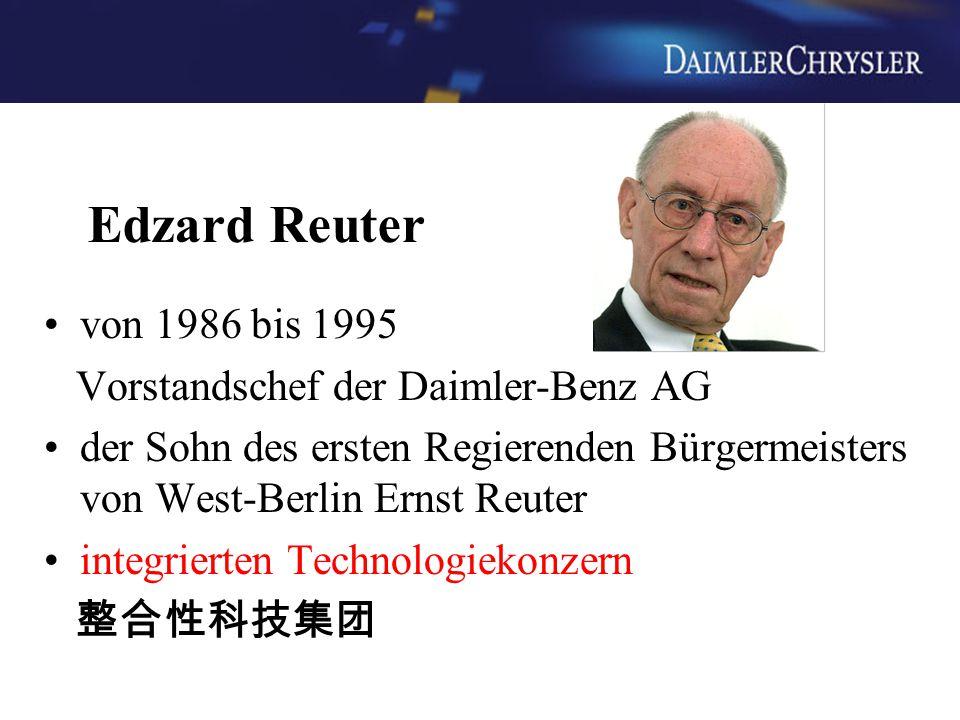 Edzard Reuter von 1986 bis 1995 Vorstandschef der Daimler-Benz AG