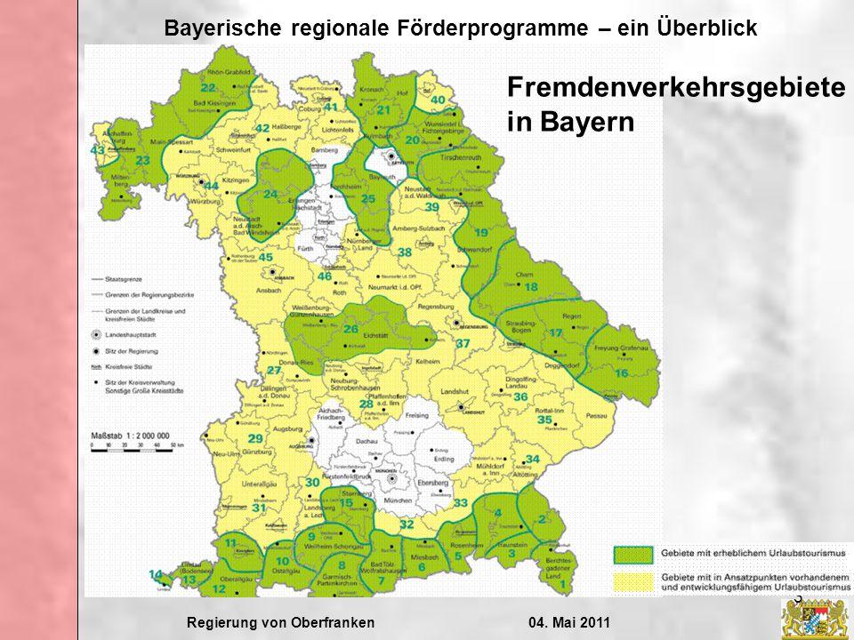 Fremdenverkehrsgebiete in Bayern