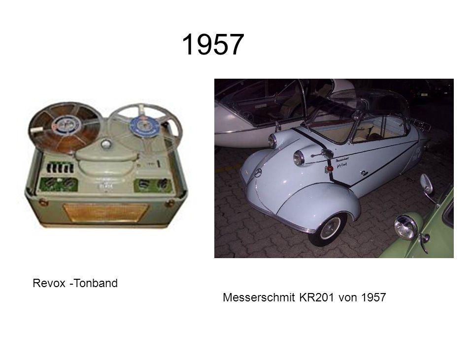 1957 Revox -Tonband Messerschmit KR201 von 1957