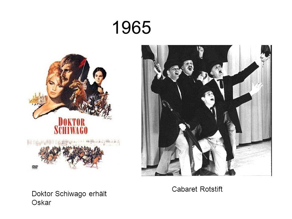 1965 Cabaret Rotstift Doktor Schiwago erhält Oskar