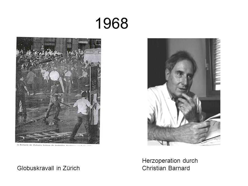 1968 Herzoperation durch Christian Barnard Globuskravall in Zürich