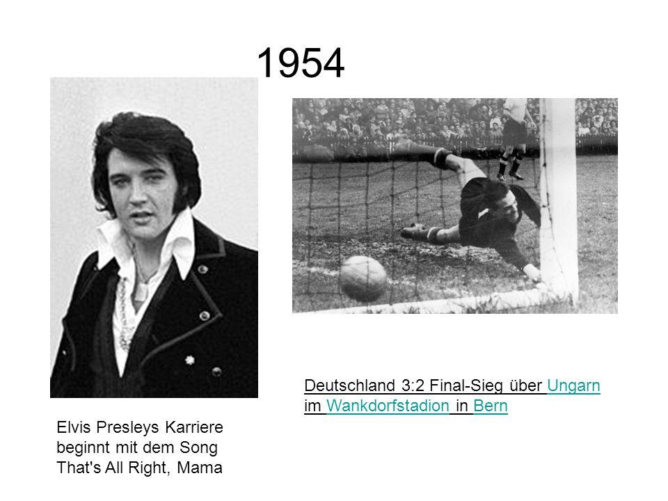 1954 Deutschland 3:2 Final-Sieg über Ungarn im Wankdorfstadion in Bern