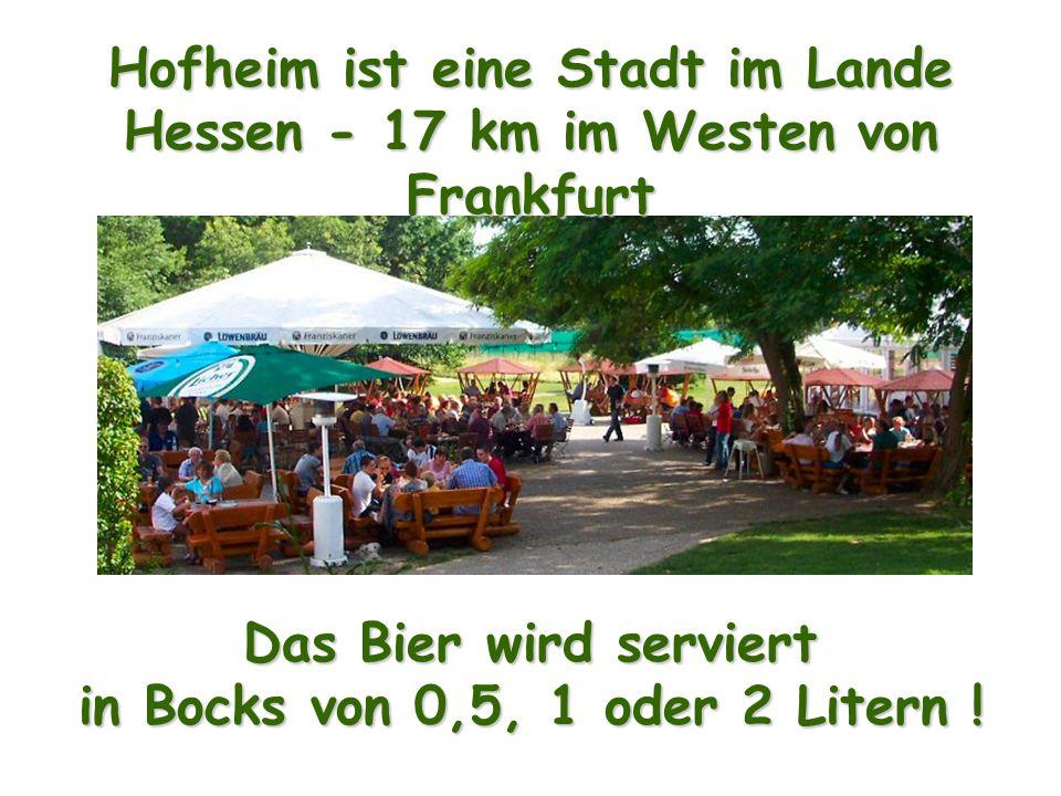 Hofheim ist eine Stadt im Lande Hessen - 17 km im Westen von Frankfurt