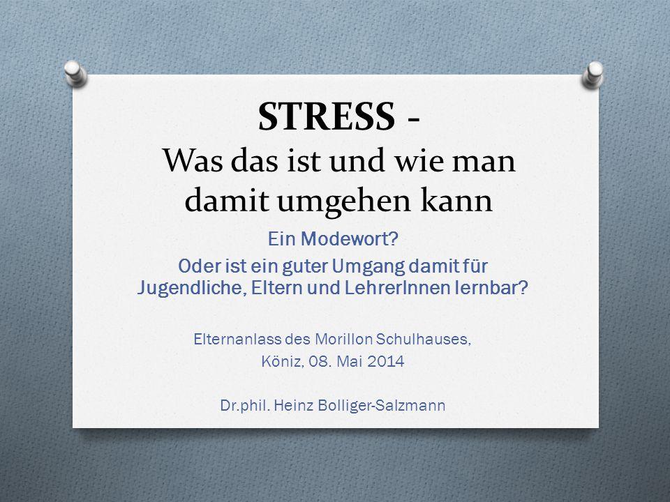 STRESS - Was das ist und wie man damit umgehen kann