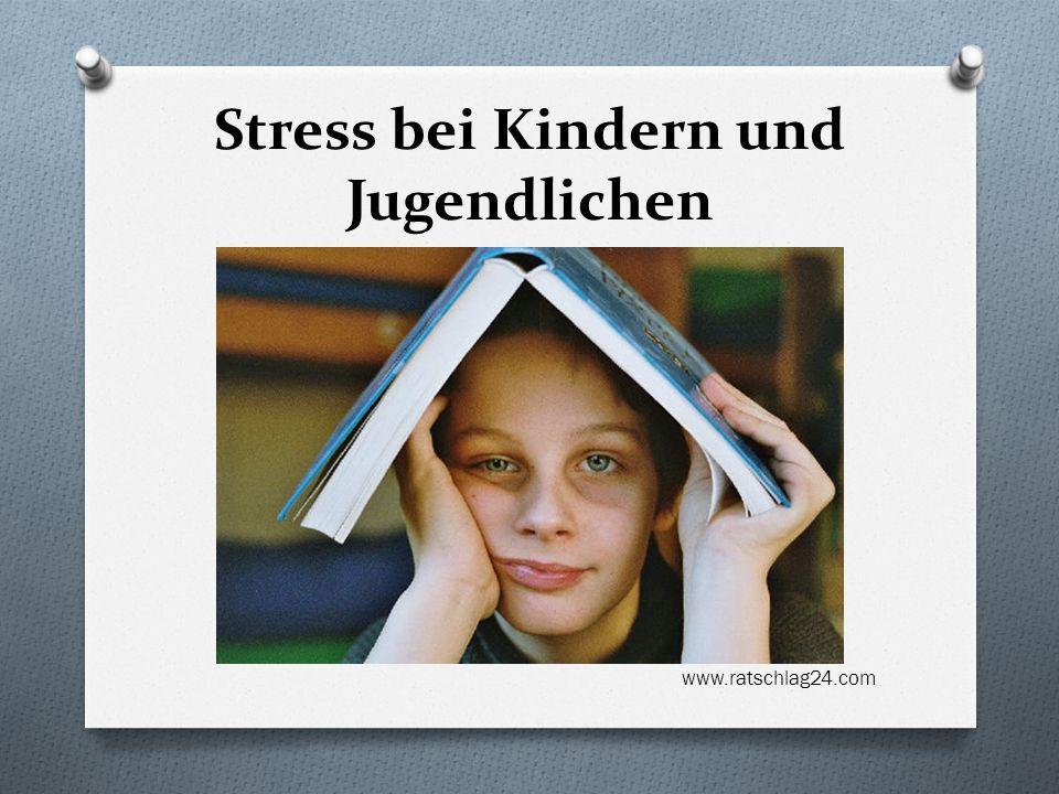 Stress bei Kindern und Jugendlichen