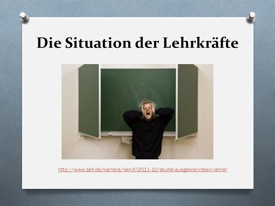 Die Situation der Lehrkräfte