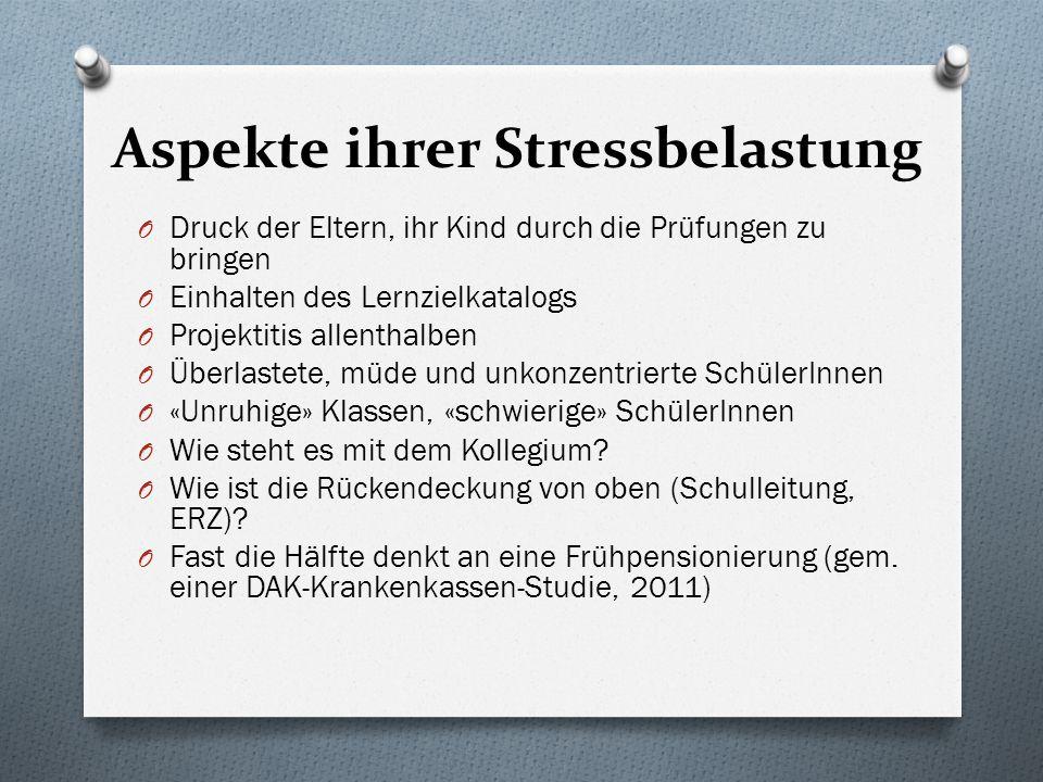 Aspekte ihrer Stressbelastung