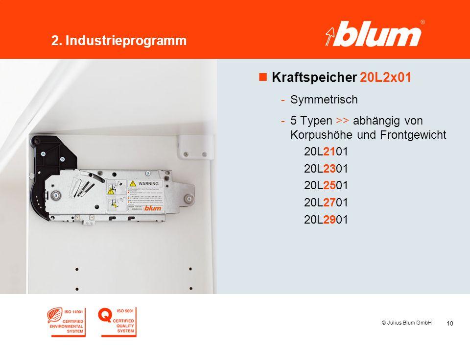 2. Industrieprogramm Kraftspeicher 20L2x01 Symmetrisch