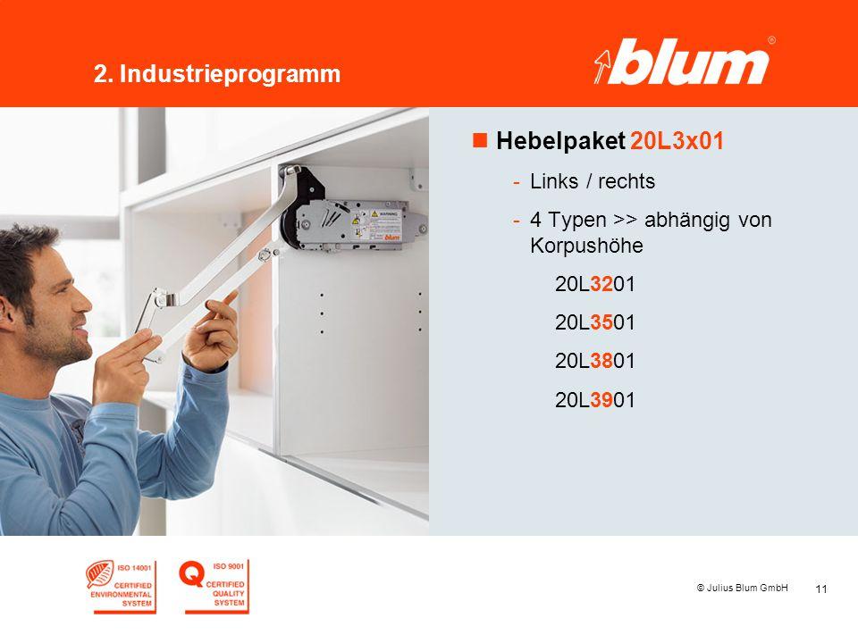 2. Industrieprogramm Hebelpaket 20L3x01 Links / rechts