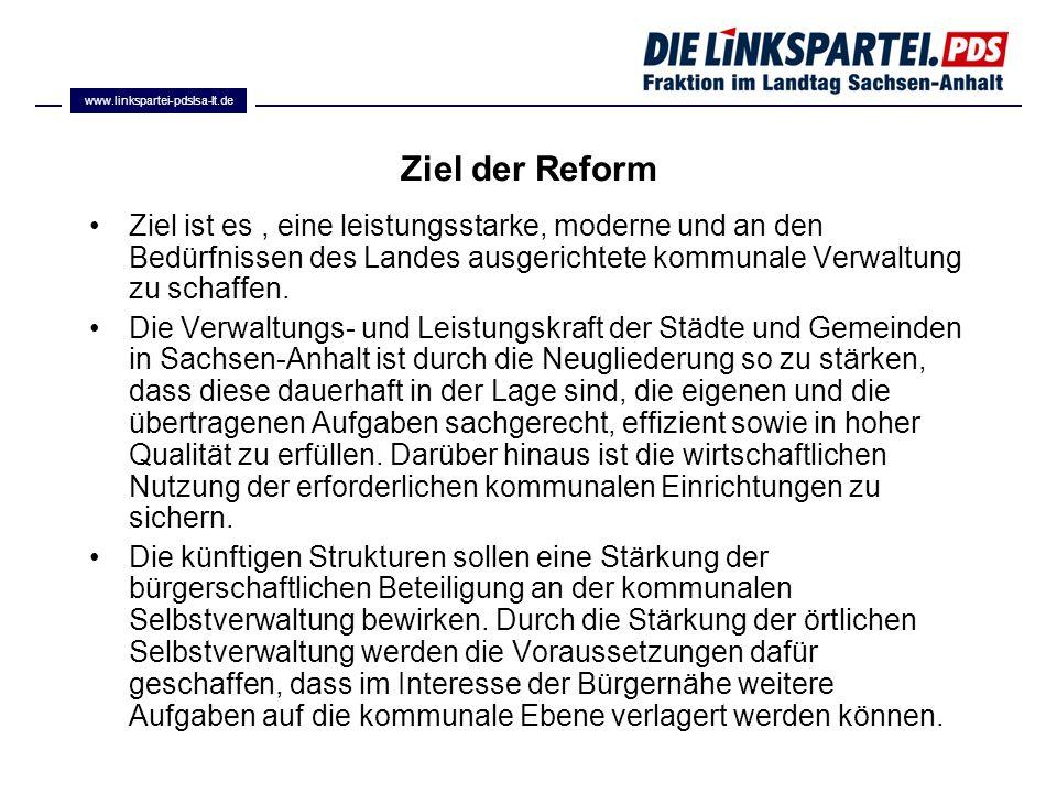 www.linkspartei-pdslsa-lt.de Ziel der Reform.
