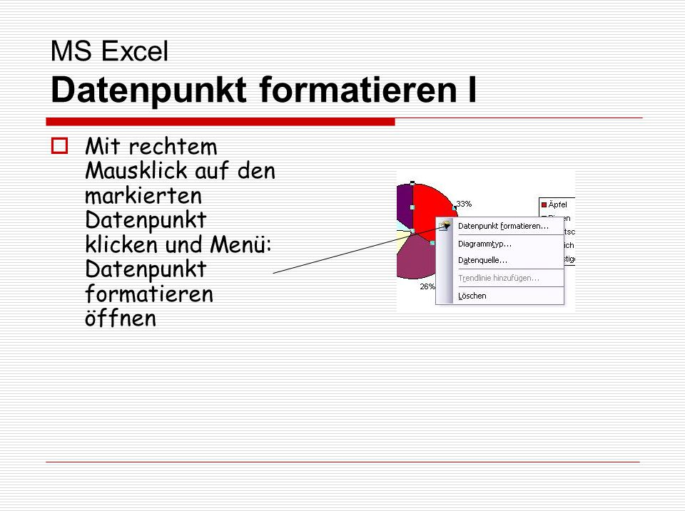 MS Excel Datenpunkt formatieren I