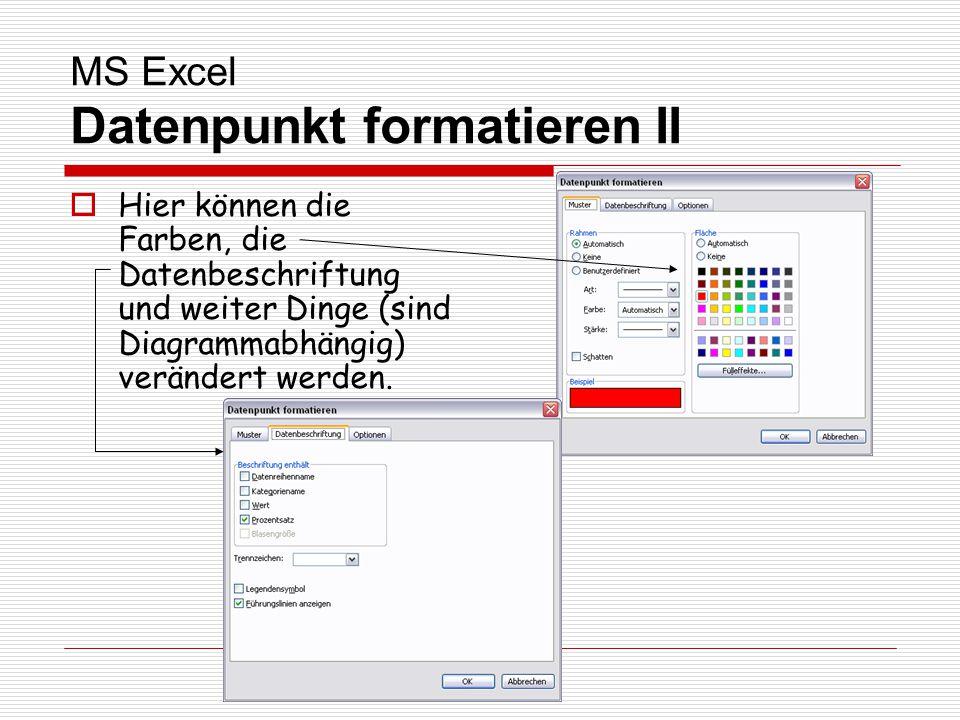 MS Excel Datenpunkt formatieren II