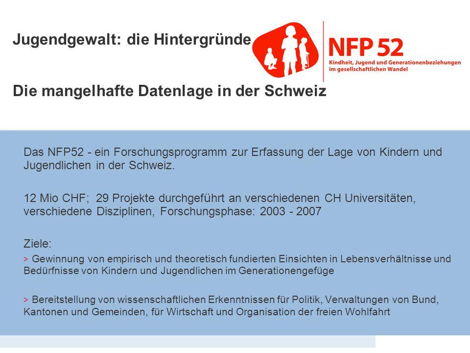 Eckdaten NFP 52 Jugendgewalt: die Hintergründe