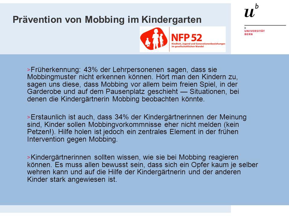 Prävention von Mobbing im Kindergarten