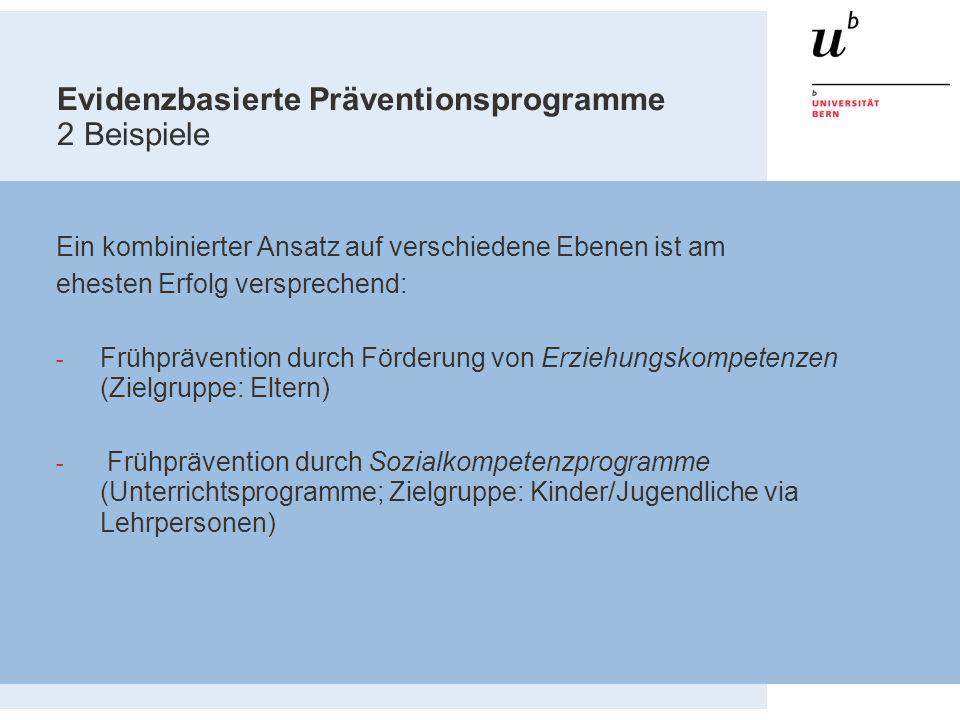 Evidenzbasierte Präventionsprogramme 2 Beispiele