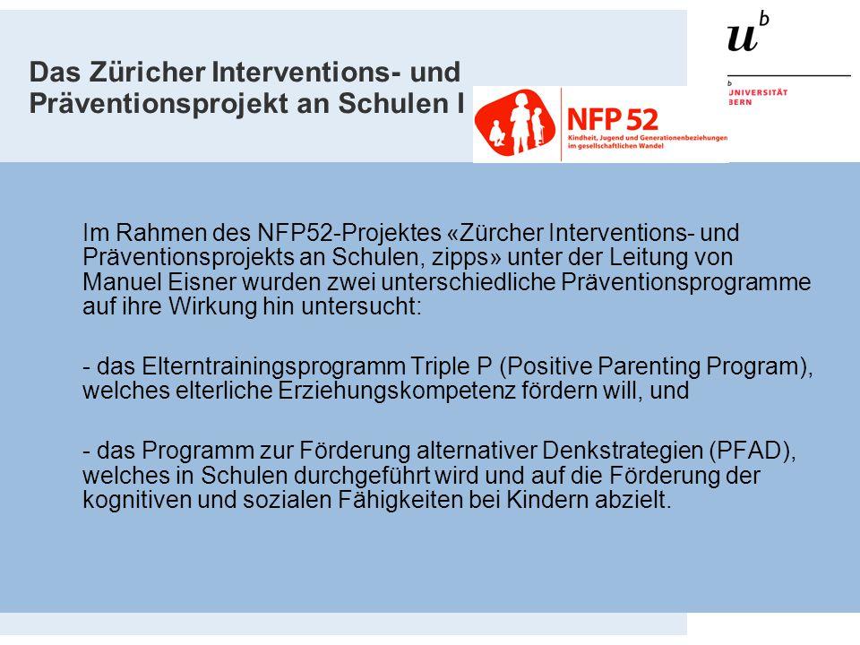 Das Züricher Interventions- und Präventionsprojekt an Schulen I