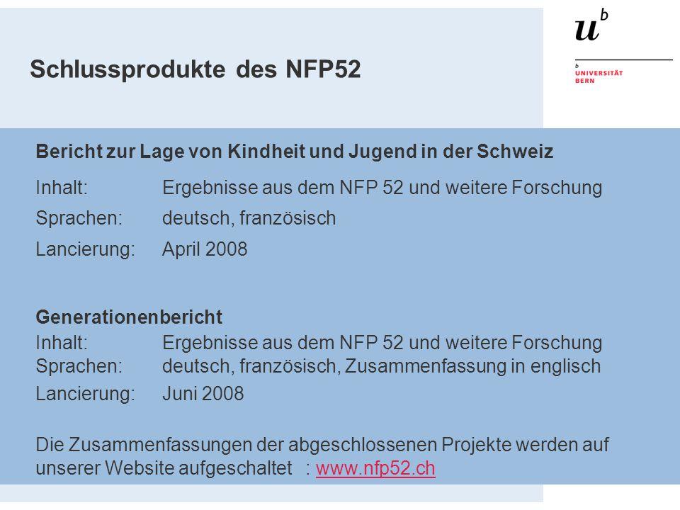 Schlussprodukte des NFP52