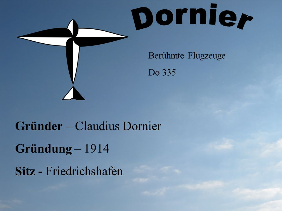 Dornier Gründer – Claudius Dornier Gründung – 1914