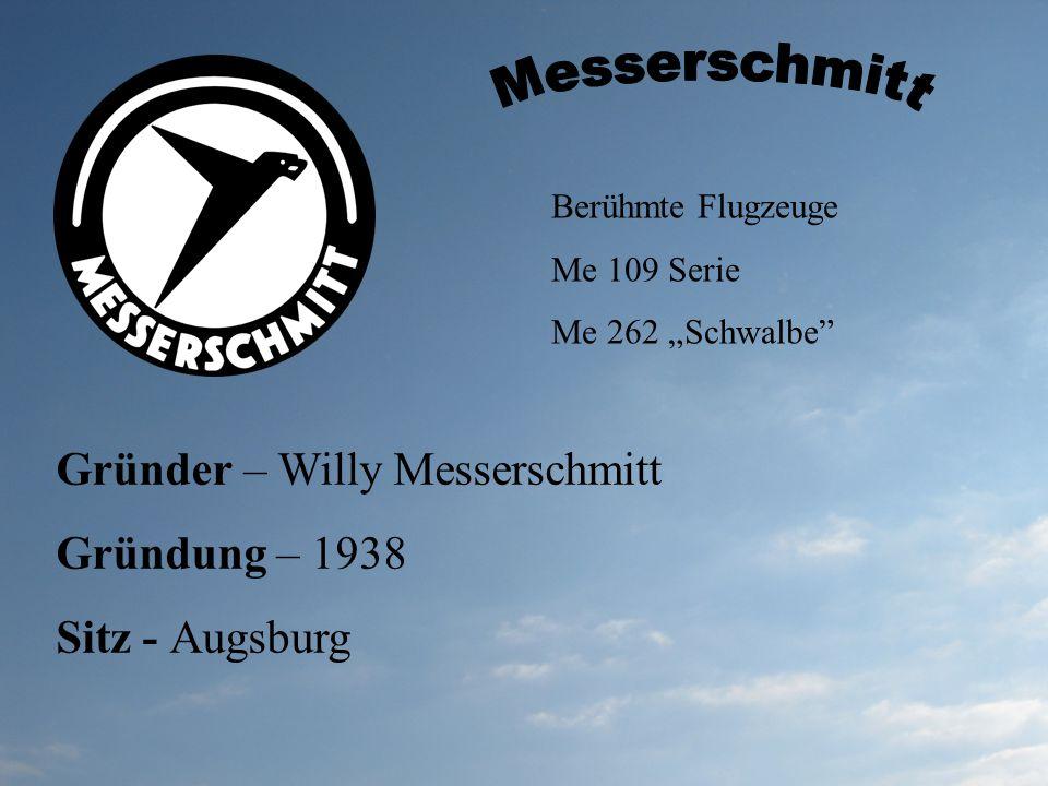Messerschmitt Gründer – Willy Messerschmitt Gründung – 1938