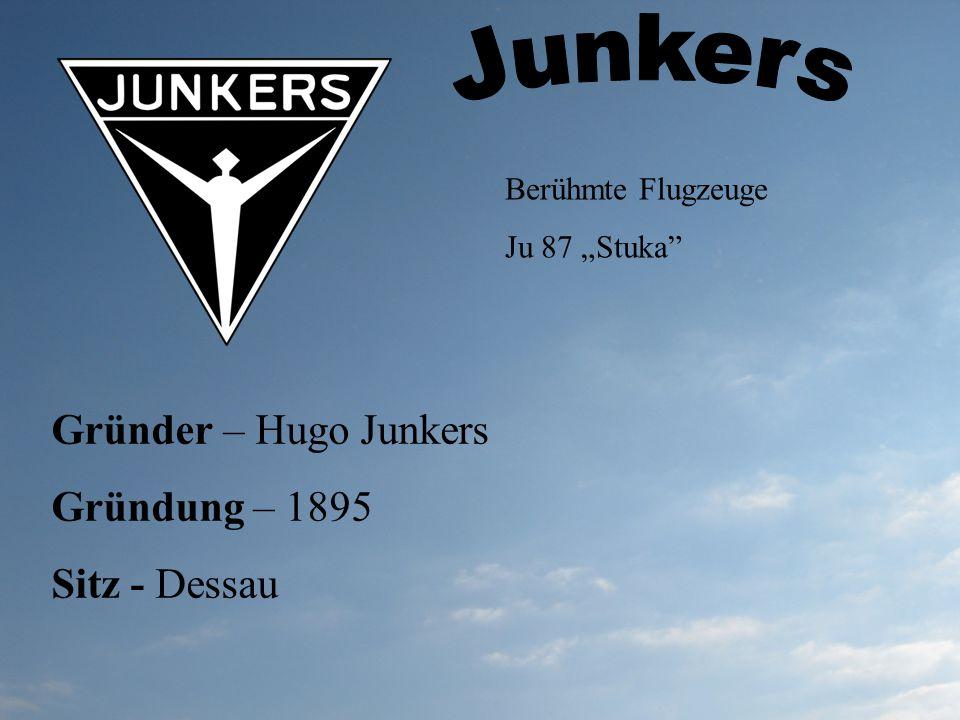 Junkers Gründer – Hugo Junkers Gründung – 1895 Sitz - Dessau