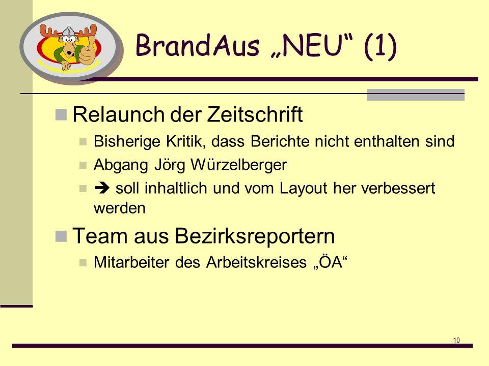"""BrandAus """"NEU (1) Relaunch der Zeitschrift Team aus Bezirksreportern"""