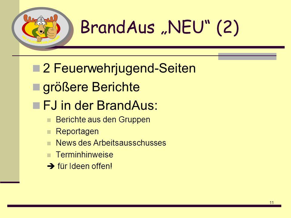 """BrandAus """"NEU (2) 2 Feuerwehrjugend-Seiten größere Berichte"""