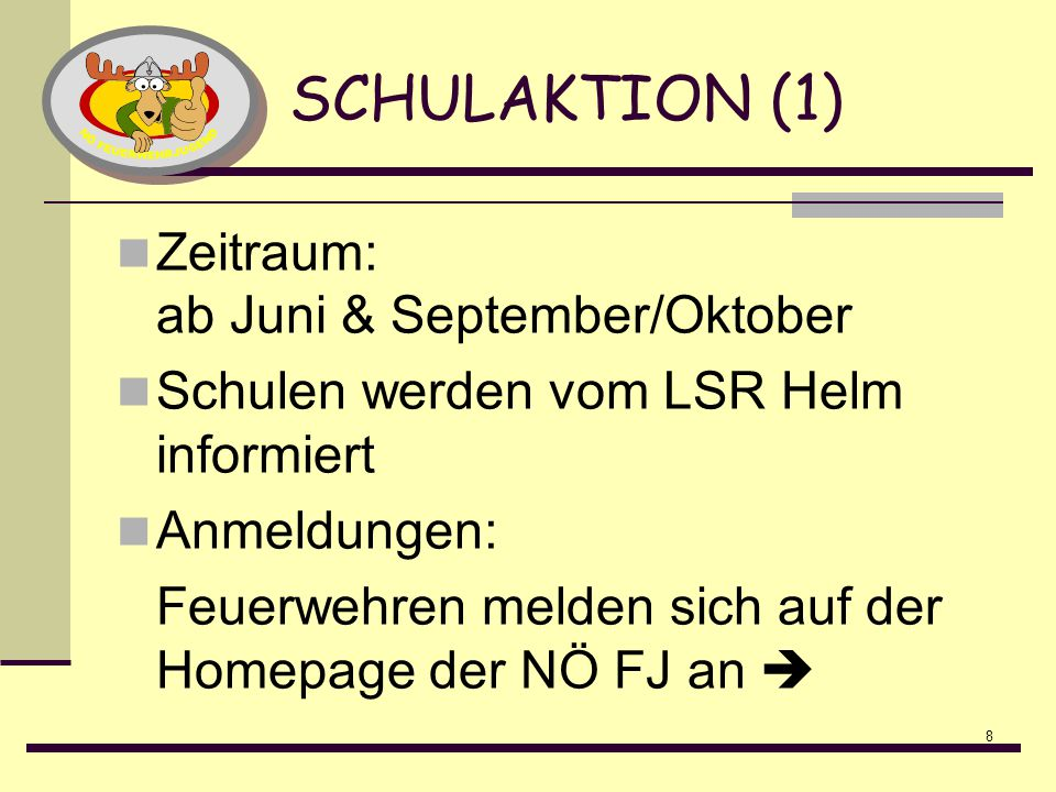 SCHULAKTION (1) Zeitraum: ab Juni & September/Oktober