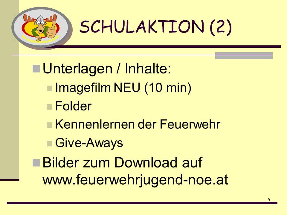 SCHULAKTION (2) Unterlagen / Inhalte: